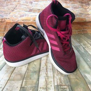 Adidas women pink sneakers size 5